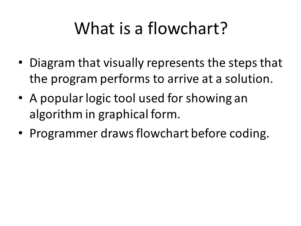 What is a flowchart.