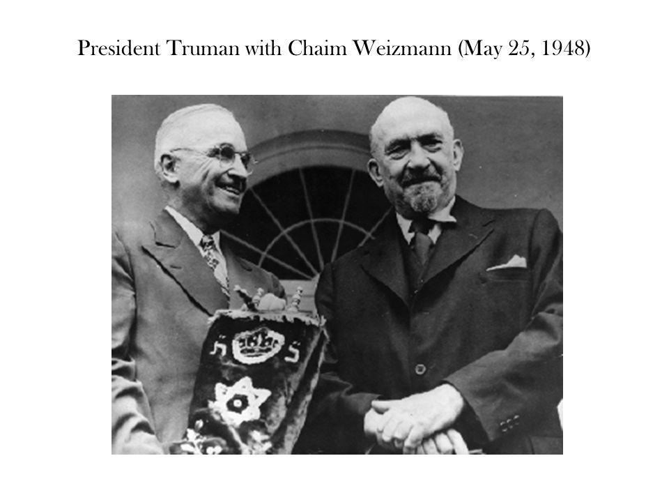 President Truman with Chaim Weizmann (May 25, 1948)