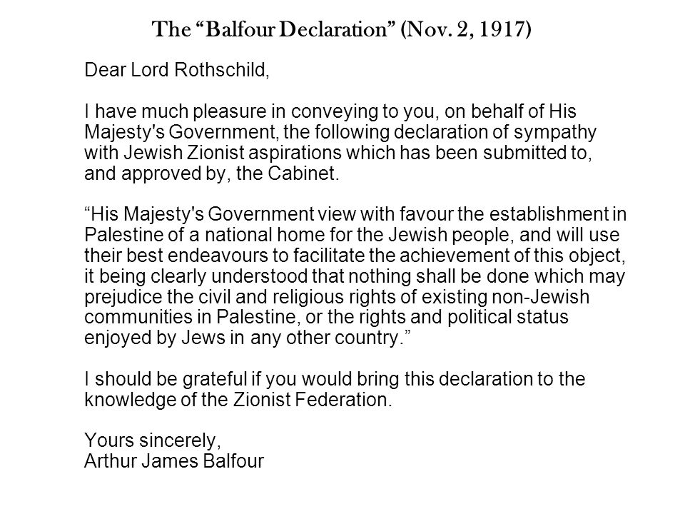 Excerpts from The British White Paper (1939) His Majesty s Government… now declare unequivocally that it is not part of their policy that Palestine should become a Jewish State.
