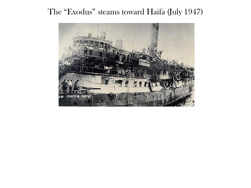 The Exodus steams toward Haifa (July 1947)