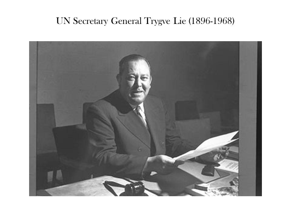 UN Secretary General Trygve Lie (1896-1968)