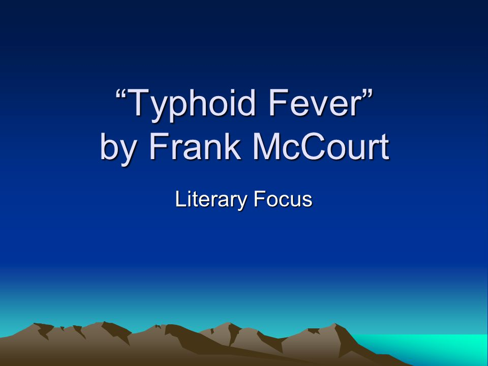 Typhoid Fever Literary Focus #7: What do Seamus' words say about him.