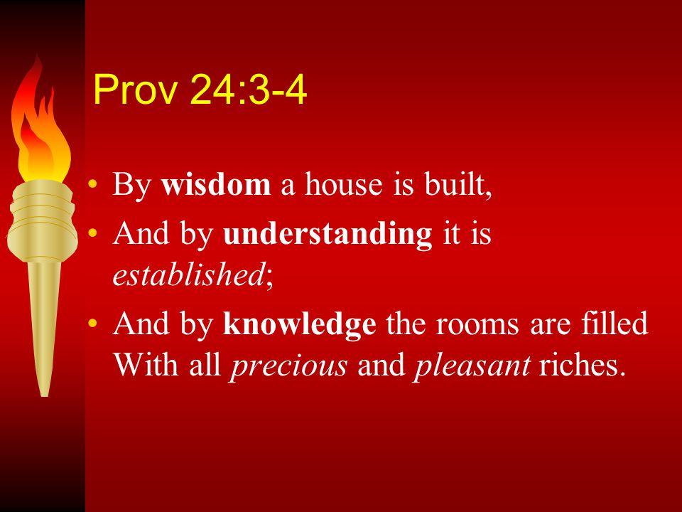 Foundational three step process: Knowledge...