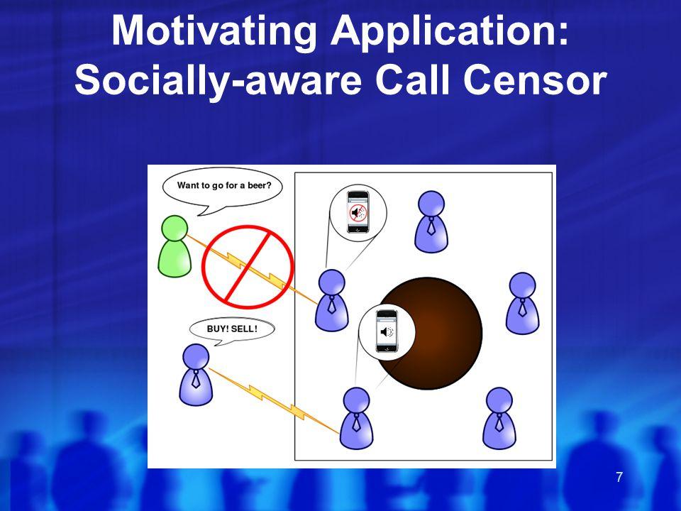 7 Motivating Application: Socially-aware Call Censor