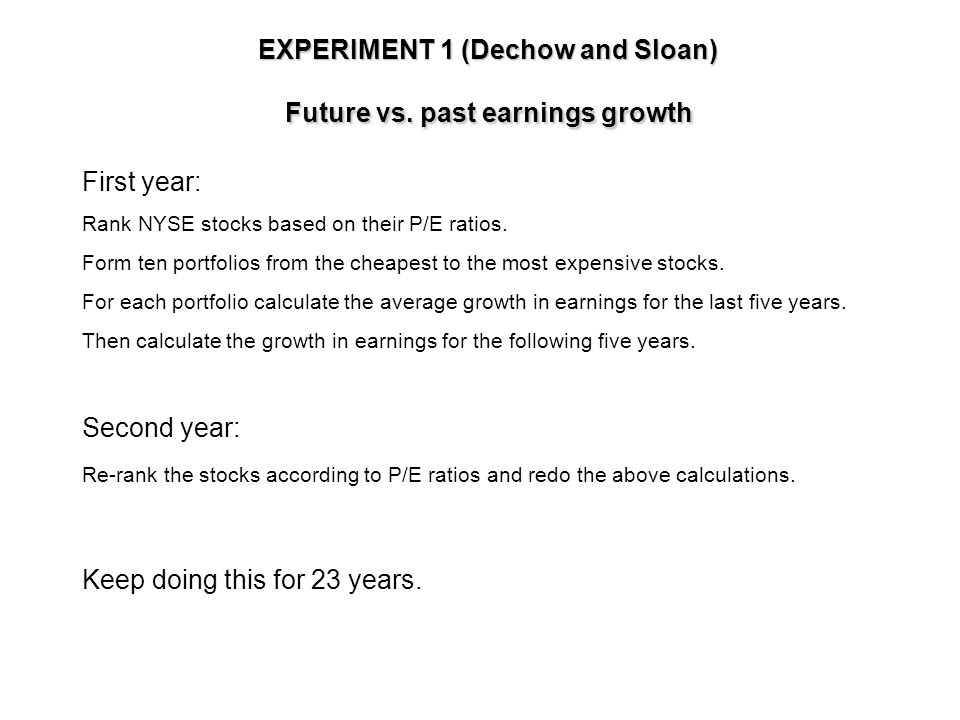 Mean reversion The tendency of earnings to revert to an average trend over the long run.