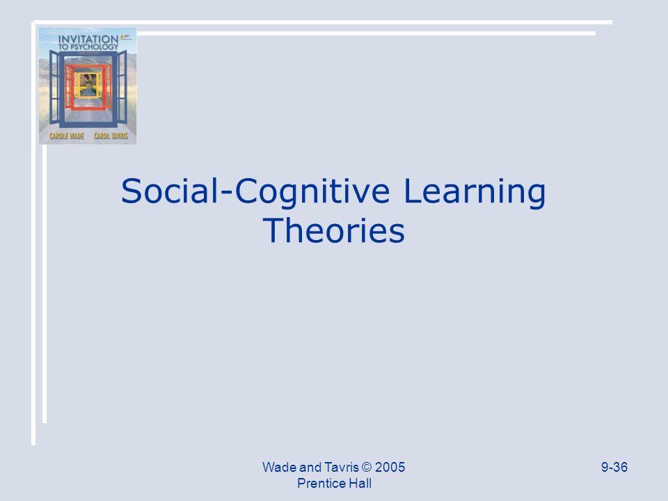 Wade and Tavris © 2005 Prentice Hall 9-36 Social-Cognitive Learning Theories