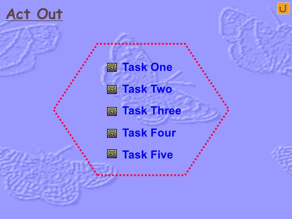 Act Out Task One Task Two Task Three Task Five Task Four