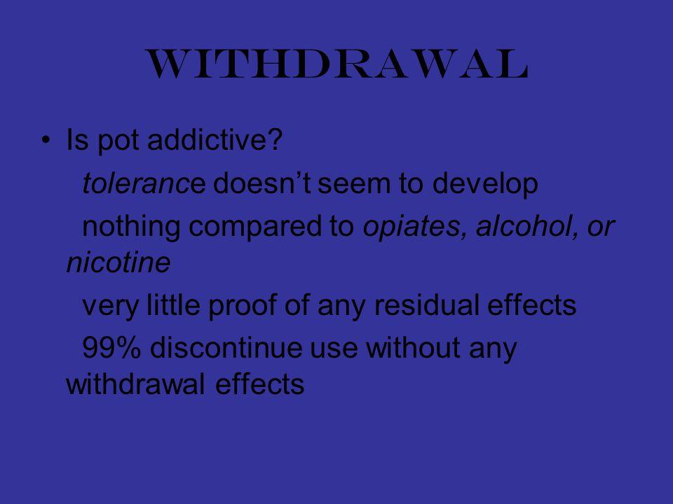 withdrawal Is pot addictive.