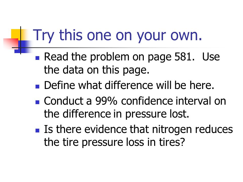 Try this one on your own. Read the problem on page 581.
