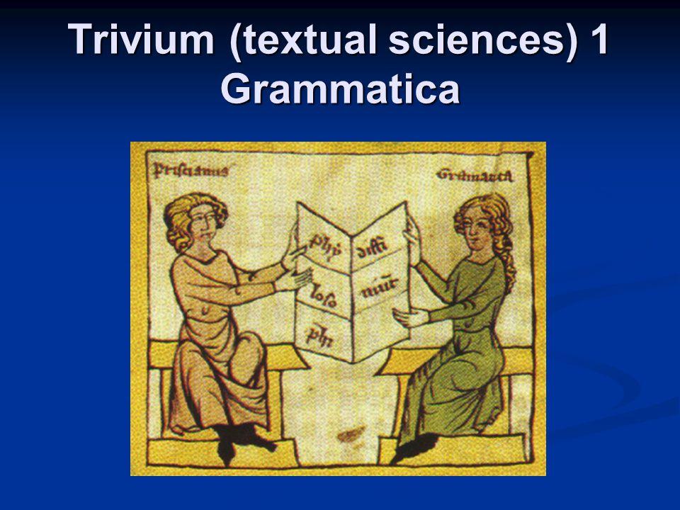 Trivium (textual sciences) 1 Grammatica
