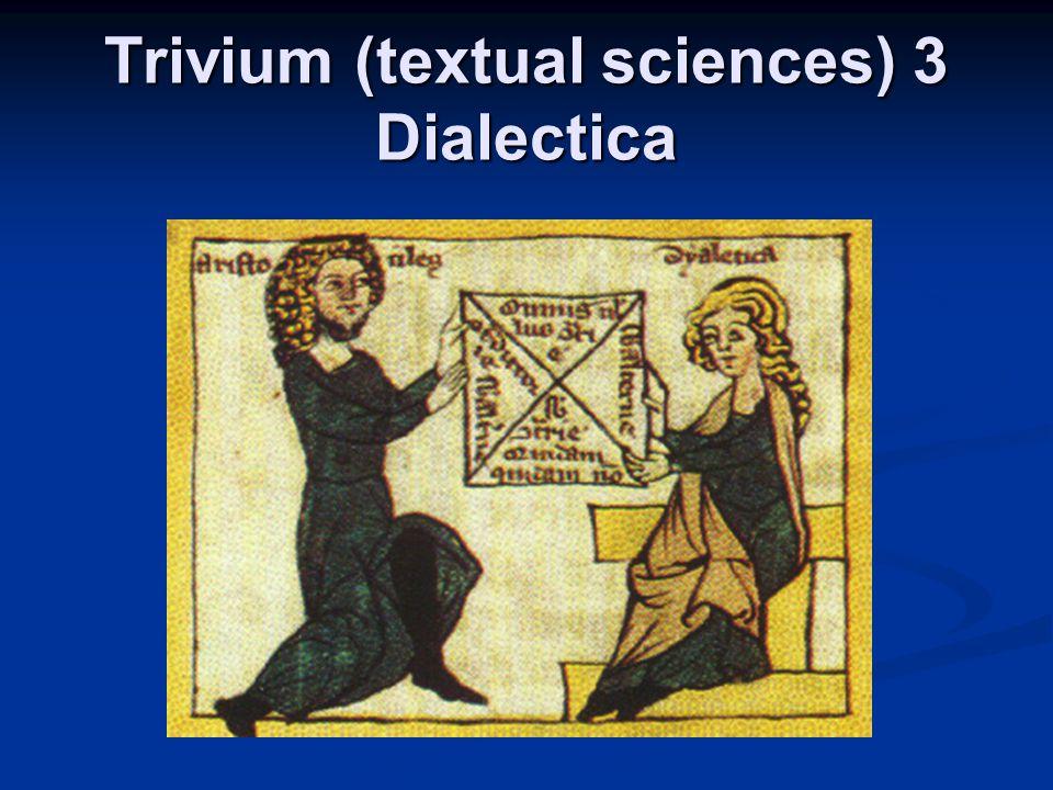 Trivium (textual sciences) 3 Dialectica