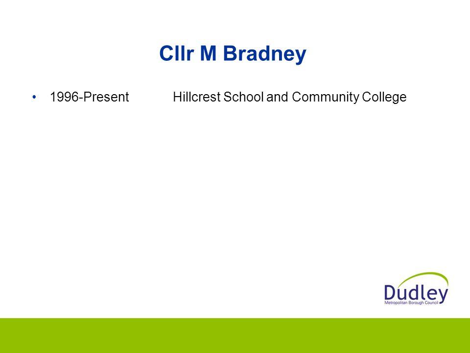 Cllr M Bradney 1996-PresentHillcrest School and Community College