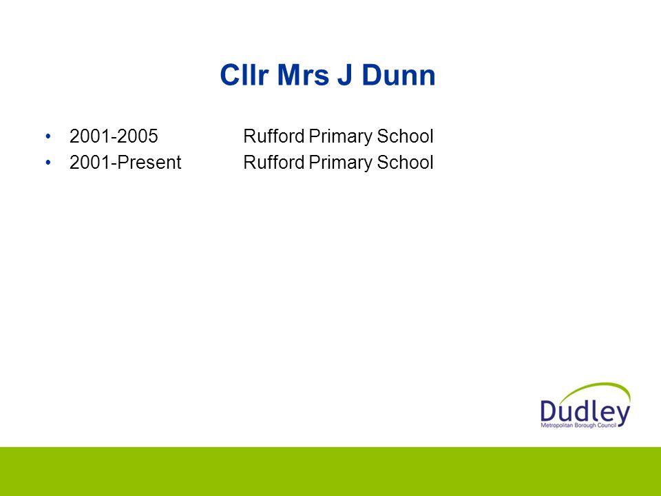 Cllr Mrs J Dunn 2001-2005Rufford Primary School 2001-PresentRufford Primary School