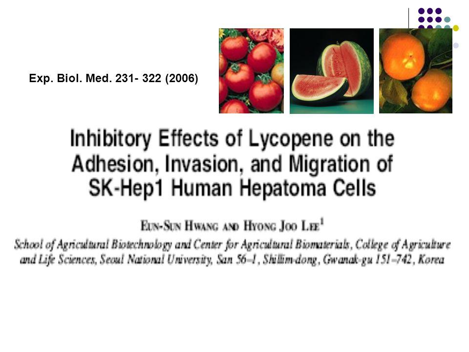 Exp. Biol. Med. 231- 322 (2006)