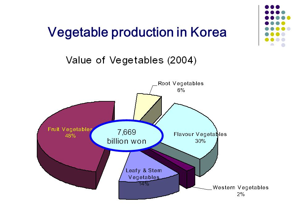 Vegetable production in Korea