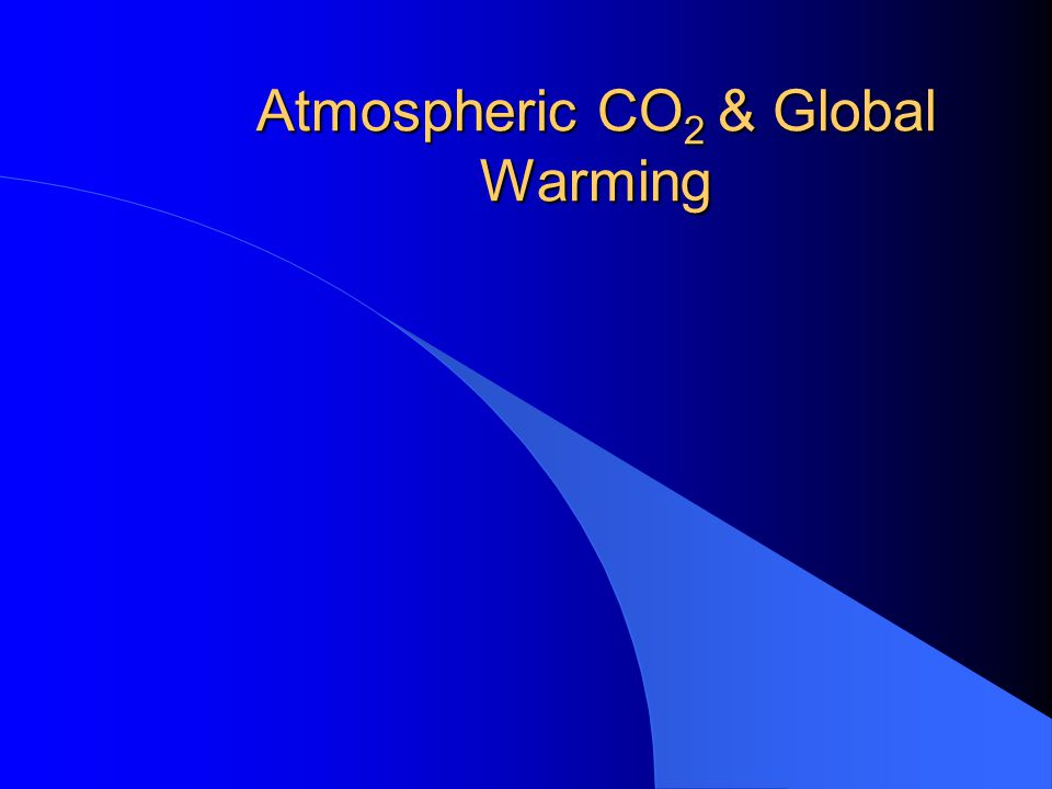 Atmospheric CO 2 & Global Warming
