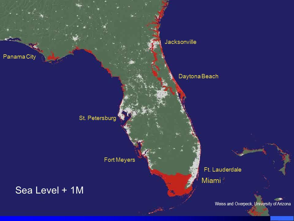 Sea Level + 1M Miami Ft.Lauderdale Daytona Beach Jacksonville St.