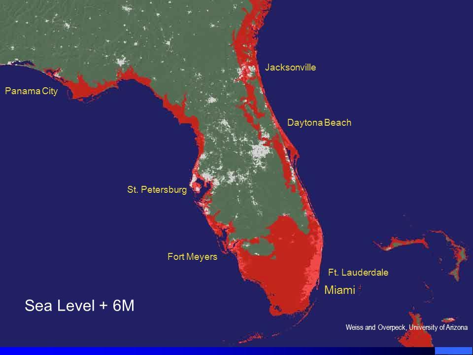 Sea Level + 6M Miami Ft.Lauderdale Daytona Beach Jacksonville St.