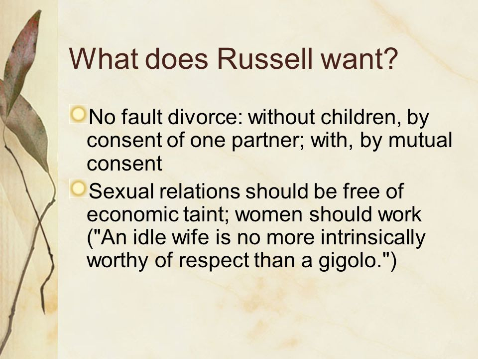 What does Russell want.