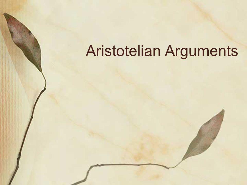 Aristotelian Arguments