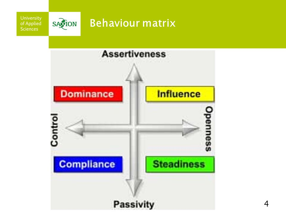 Behaviour matrix 4