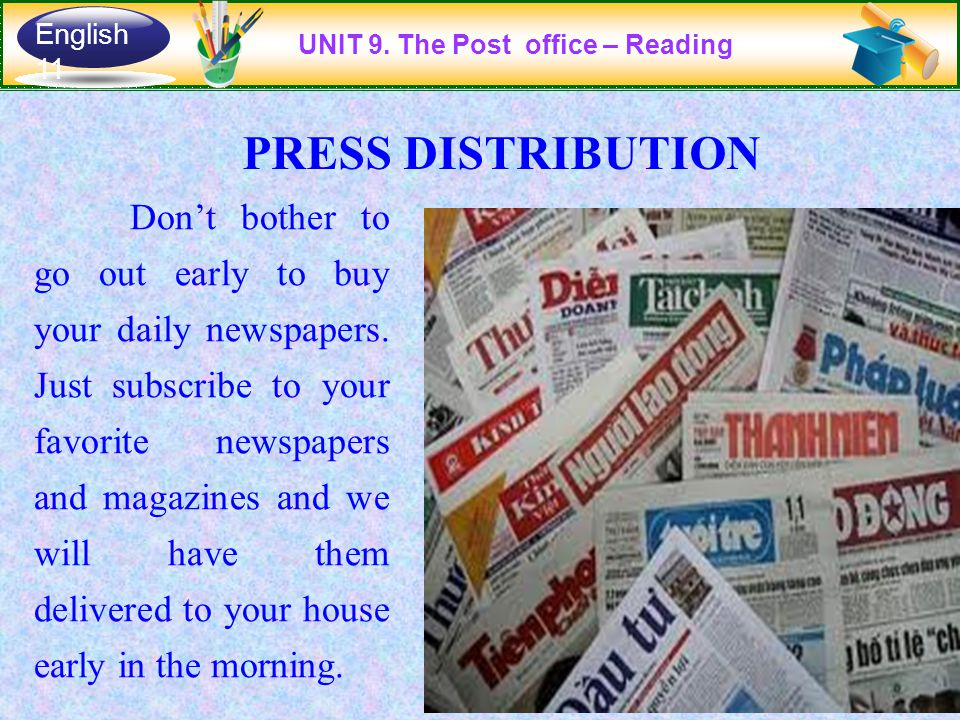 Don't bother to go out early to buy your daily newspapers.