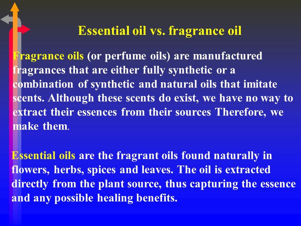 Essential oil vs.