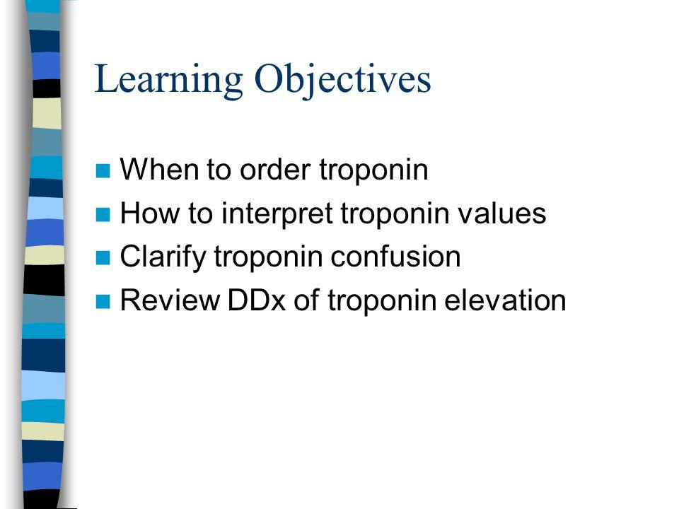Siegel 6-category Troponin DDx Thrombosis Trauma Demand Sick Brain Annoying