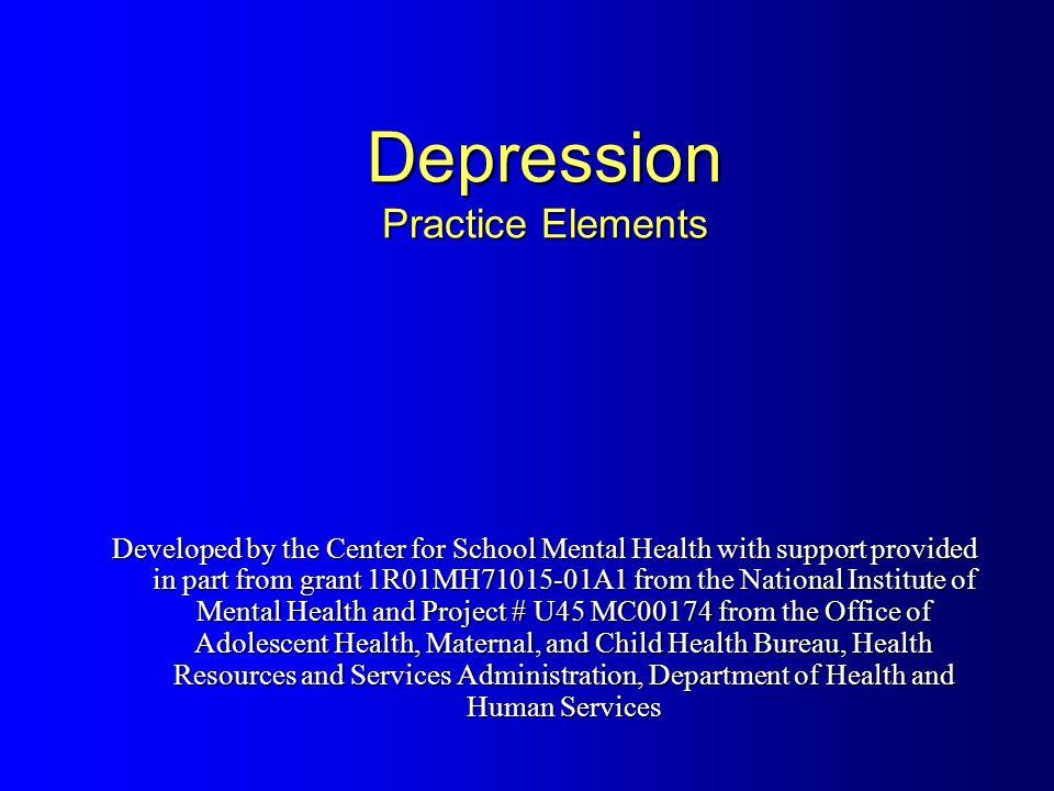 Depressive Disorders Major Depressive Disorder Dysthymic Disorder Depressive Disorder Not Otherwise Specified (NOS)