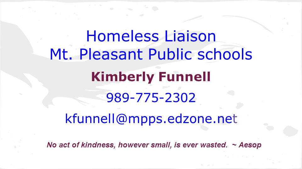 Homeless Liaison Mt.