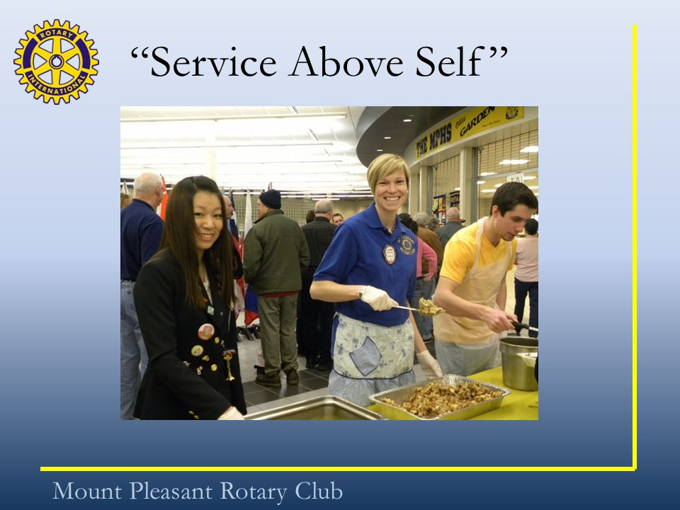 Service Above Self Mount Pleasant Rotary Club
