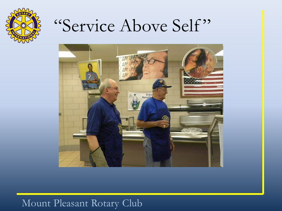 """Service Above Self"" Mount Pleasant Rotary Club"