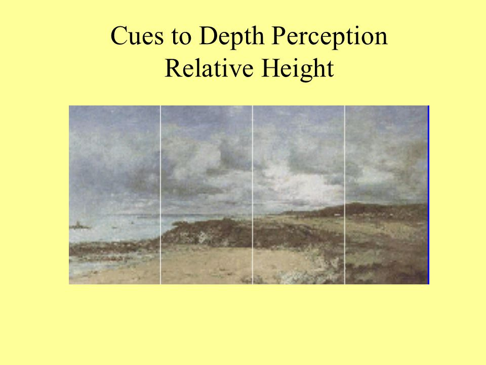 Cues to Depth Perception Relative Height