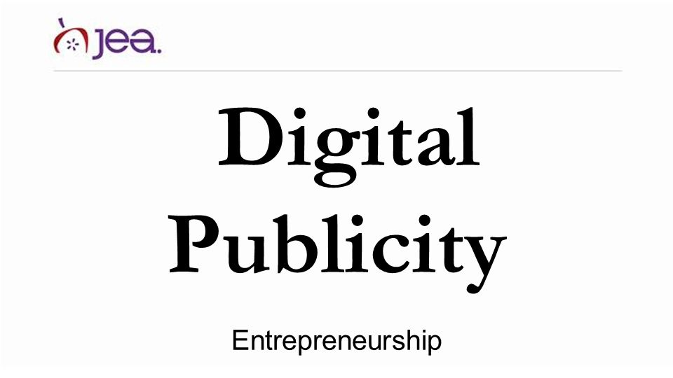 Digital Publicity Entrepreneurship