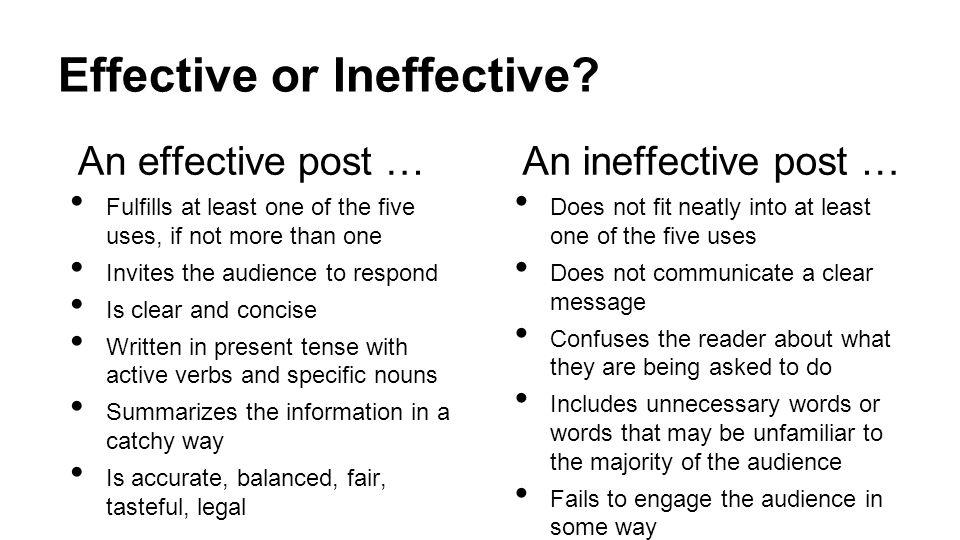 Effective or Ineffective.