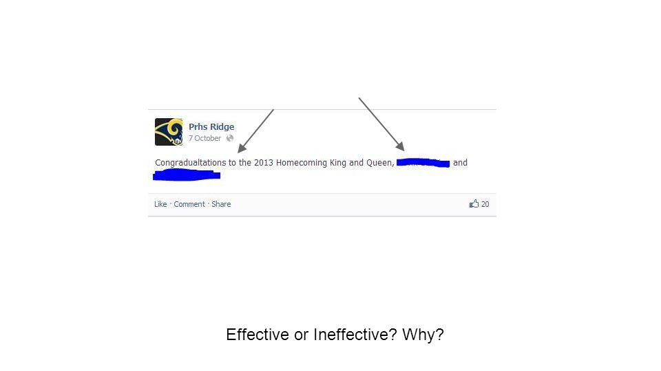 Effective or Ineffective. Why.