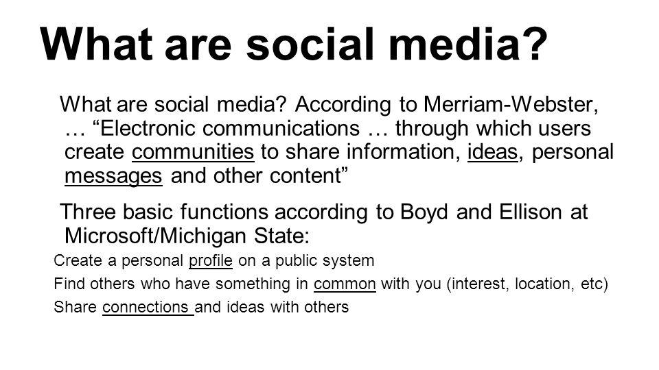 What are social media. What are social media.