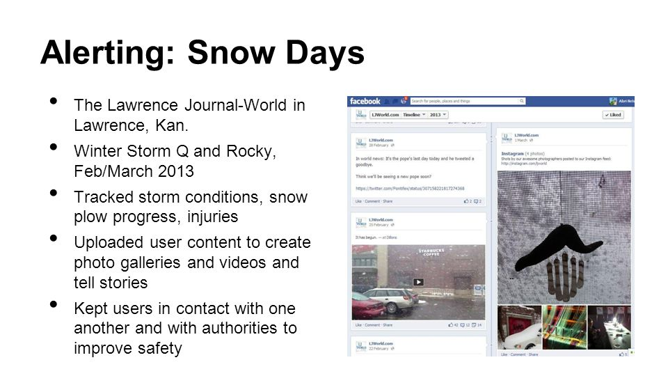 Alerting: Snow Days The Lawrence Journal-World in Lawrence, Kan.