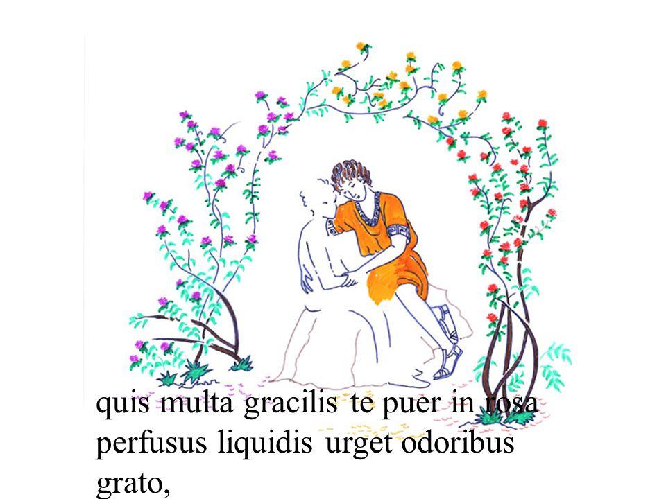 quis multa gracilis te puer in rosa perfusus liquidis urget odoribus grato,