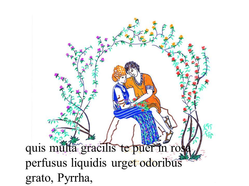 quis multa gracilis te puer in rosa perfusus liquidis urget odoribus grato, Pyrrha,