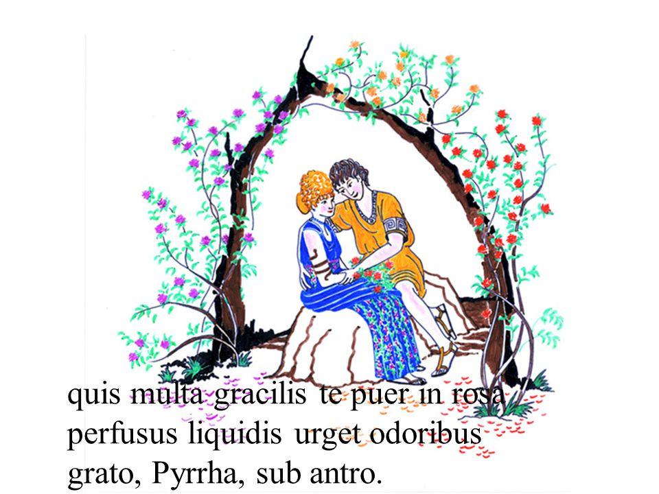 quis multa gracilis te puer in rosa perfusus liquidis urget odoribus grato, Pyrrha, sub antro.