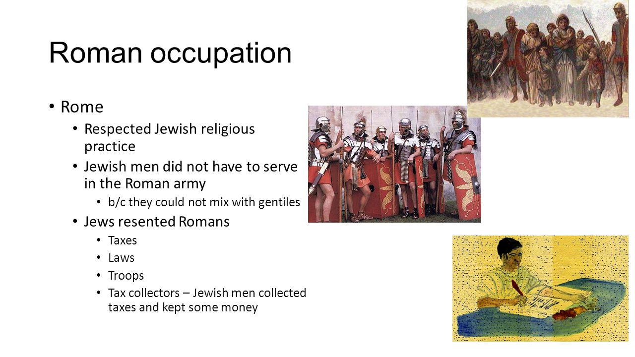 Religious groups Pharisees Large middle class Jews Loved Torah, law Added 613 rules to the law Believed in resurrection and angels Jesus scolded them for stressing outward acts rather than the spirit of love.