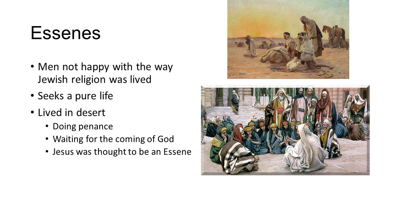 Jesus' religion Prayer Jews prayed many times in a day Before and after eating Morning and evening Shema – Hear, O Israel, The Lord is our God, the Lord alone.