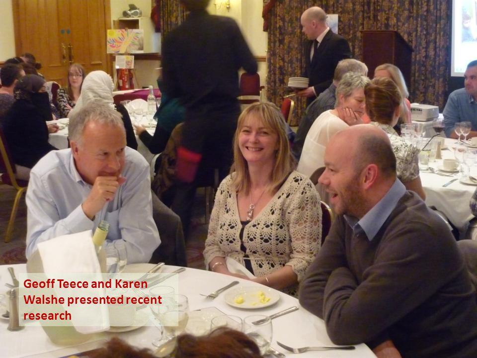 Geoff Teece and Karen Walshe presented recent research