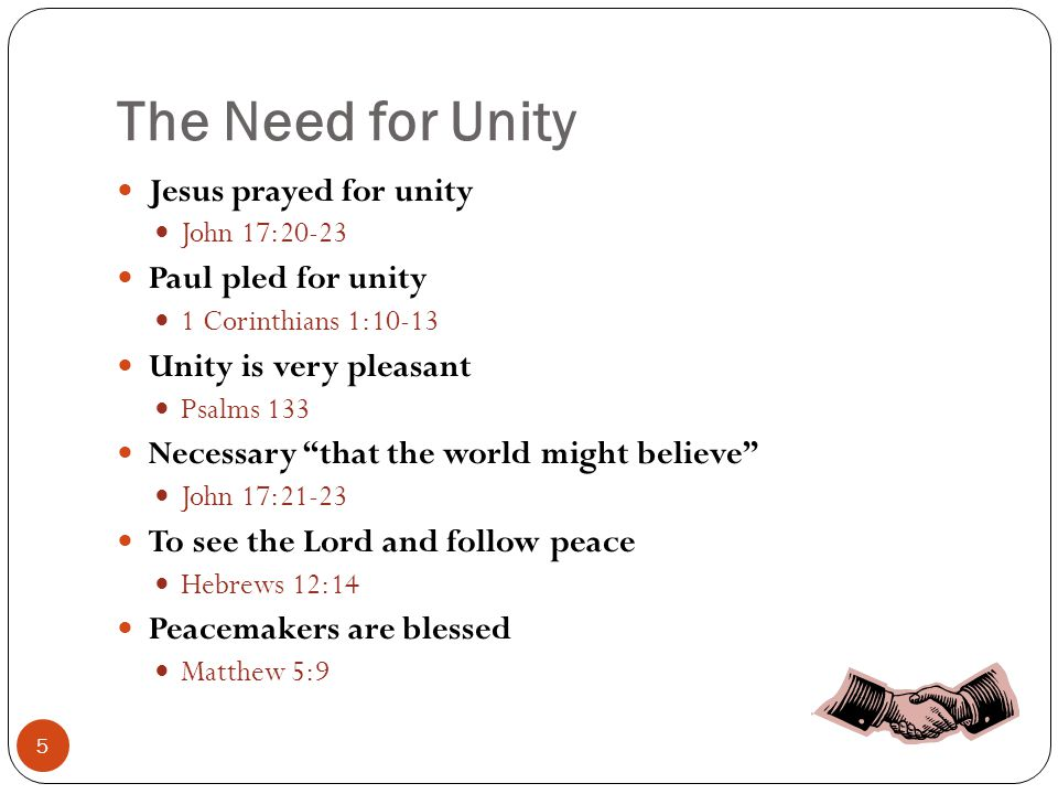 The Basis for Unity No theories, opinions & doctrines of men Matthew 15:8-9 No traditions & practices of men Colossians 2:8; Mark 7:9-13 Have a love for God & Christ Mark 12:28-31; 1 John 5:3; John 14:15, 21 Have a love for Truth Isaiah 66:2; 2 Thessalonians 2:10-12 Have love for one another 1 Thessalonians 4:9 Walk by the same rule Philippians 3:16; 2 Timothy 3:16-17 Rely on Bible authority 1 Peter 4:11 Abide in the Doctrine of Christ 2 John 9 6