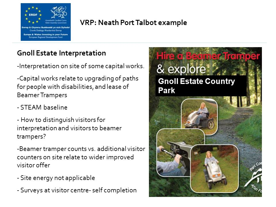 VRP: Neath Port Talbot example Gnoll Estate Interpretation -Interpretation on site of some capital works.