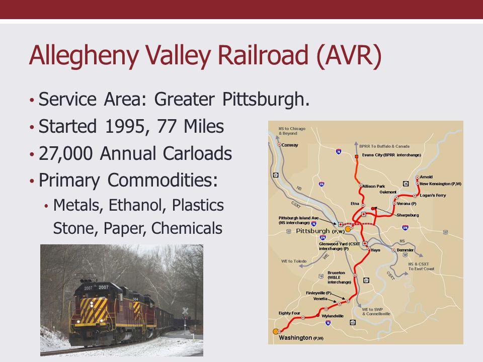 Southwest Pennsylvania Railroad (SWP) Service area: southeast of Pgh.