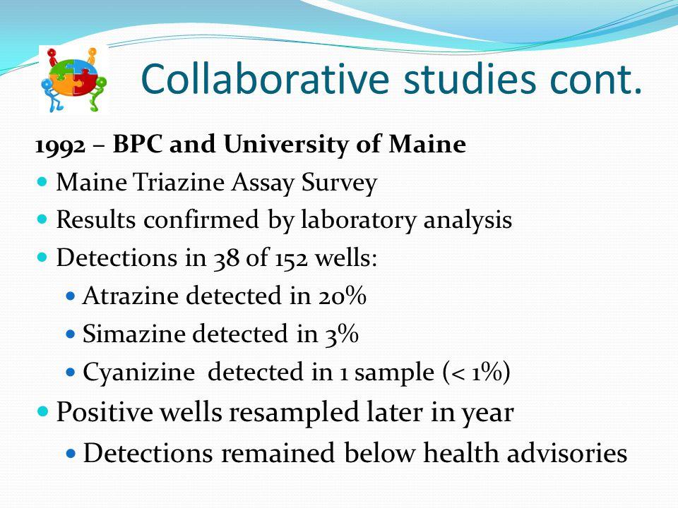 Collaborative studies cont.