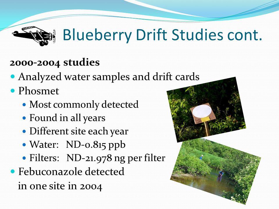 Blueberry Drift Studies cont.