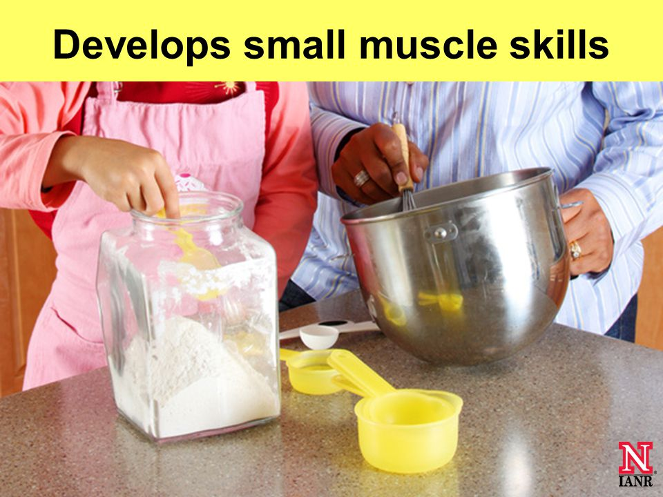Learns new vocabulary Develops small muscle skills